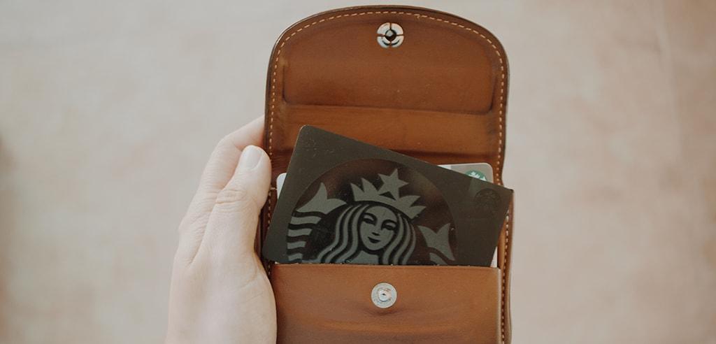 Starbucks loyalty card