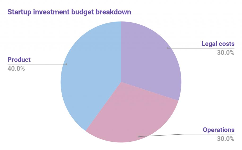 app startup investment budget breakdown