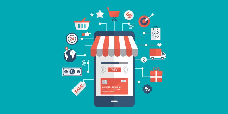 E-commerce platform on a smartphone
