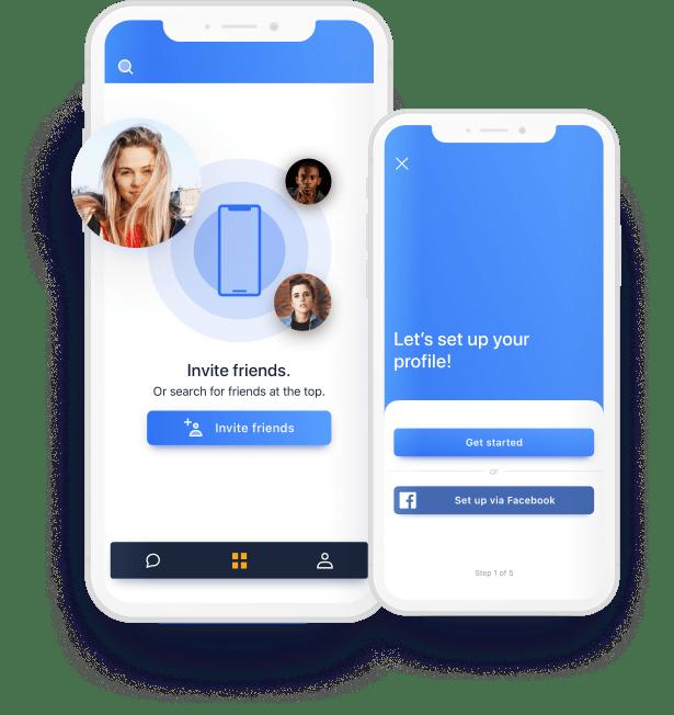 friends app example